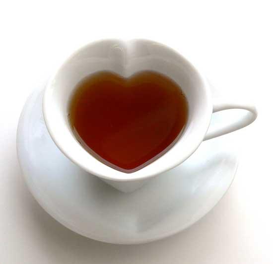 Hearts tea cup